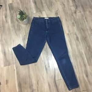 Free People High Waisted SKINNY Jeggings 28